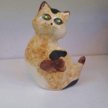 chat ceramique