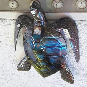 ceramic metal turtle
