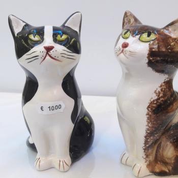 ceramic cat statuette