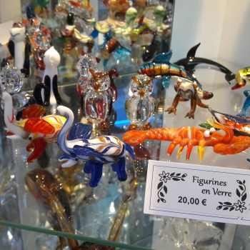 figurines en verre