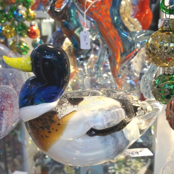 blown glass duck