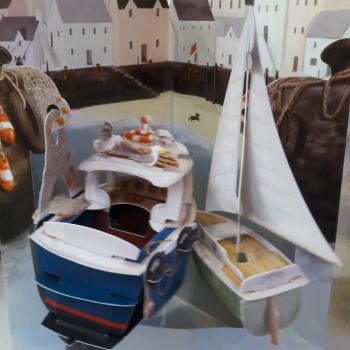 paper map boats