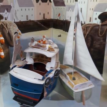 carte papier bateaux