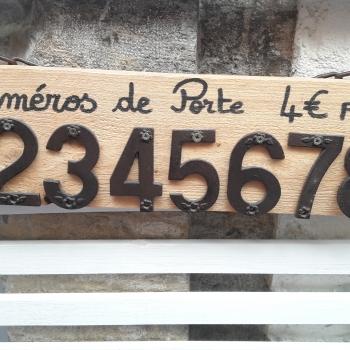 numero de porte en fer