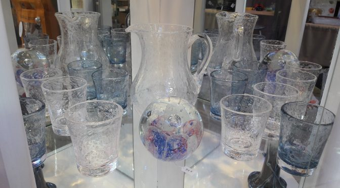 Bubble and blown glass from Biot